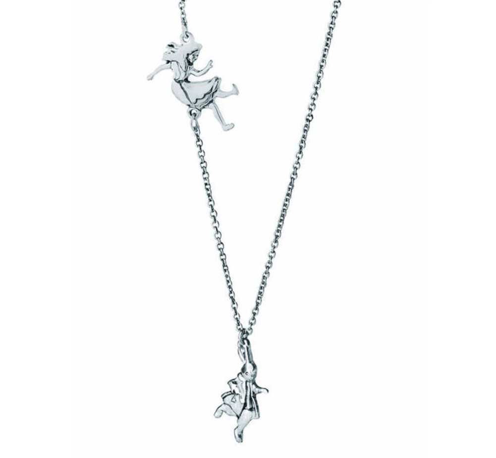 【Out of Print】 Down the Rabbit Hole Necklace (Alice's Adventures in Wonderland) (Silver)