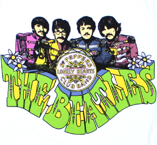 The Beatles / Sgt. Pepper's Lonely Hearts Club Band Tee 3 (White)