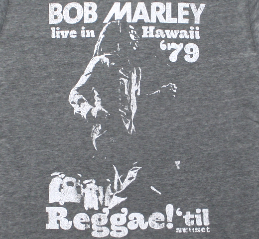 Bob Marley / Live in Hawaii 79 Tee (Charcoal Grey) (Burn Out)