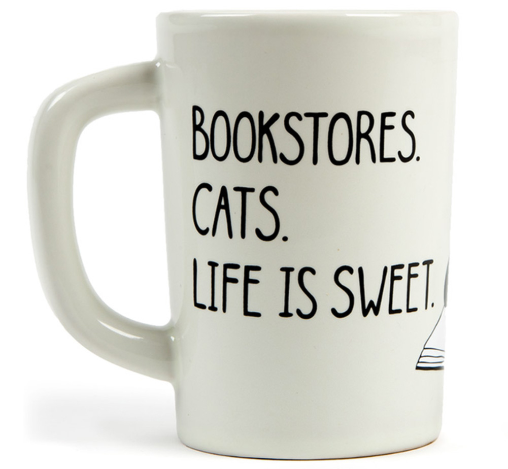 【Out of Print】 Bookstores. Cats. Life is sweet. Mug