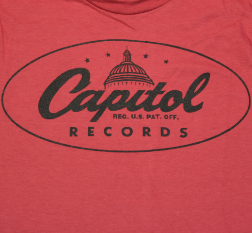 Capitol Records / Oval Logo Tee (Red)