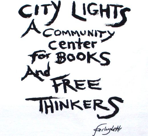 【City Lights Bookstore】 Lawrence Ferlinghetti / FREE THINKERS Tee (White)