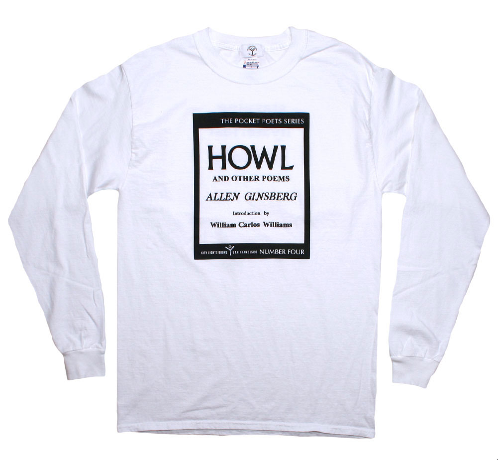 [City Lights Bookstore] Allen Ginsberg / Howl and Other Poems Long Sleeved Tee (White)
