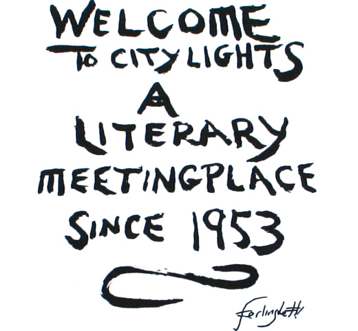 【City Lights Bookstore】 Lawrence Ferlinghetti / MeetingPlace Tee (White)