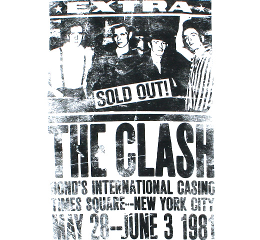 The Clash / Poster 1981 Tee (White)