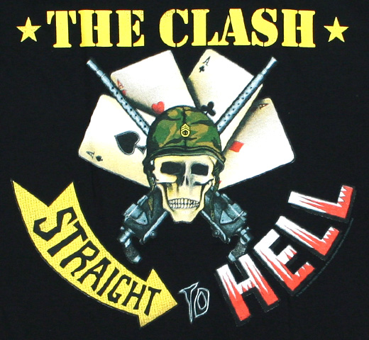 The Clash / Straight To Hell Tee 2 (Black)