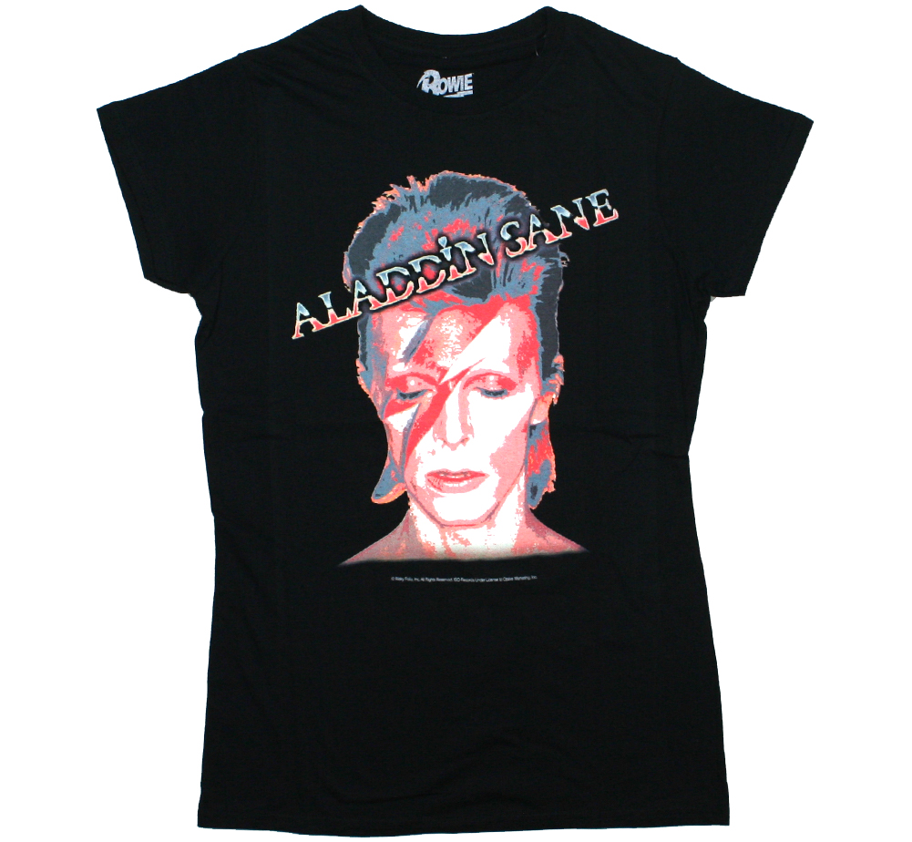 David Bowie / Aladdin Sane Womens Tee 9 (Black)