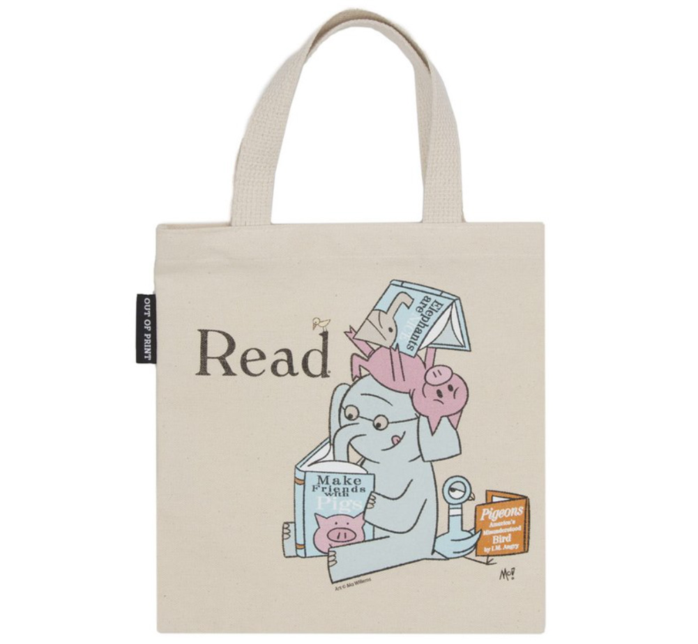 【Out of Print】 Mo Willems / Read with Elephant & Piggie, and The Pigeon Kids Tote Bag