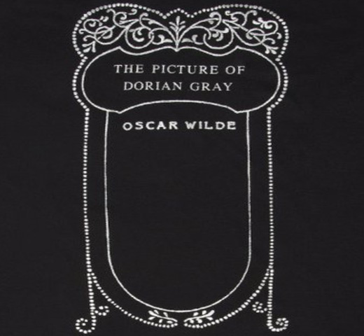 【Out of Print】 Oscar Wilde / The Picture of Dorian Gray Scoop Neck Tee [Gilded] (Black) (Womens)