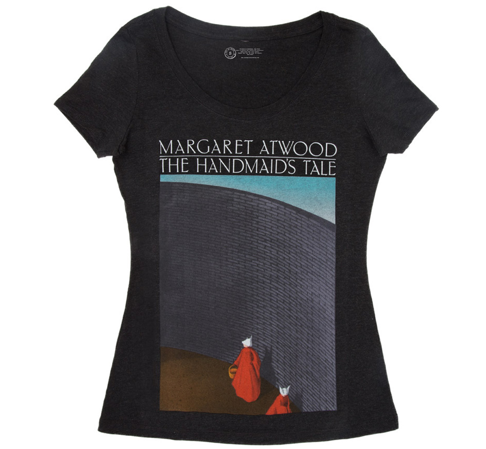 【Out of Print】 Margaret Atwood / The Handmaid's Tale Scoop Neck Tee (Black) (Womens) (5月入荷予定、予約受付中)