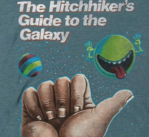 【Out of Print】 Douglas Adams / The Hitchhiker's Guide to the Galaxy Tee (Indigo) (Womens)