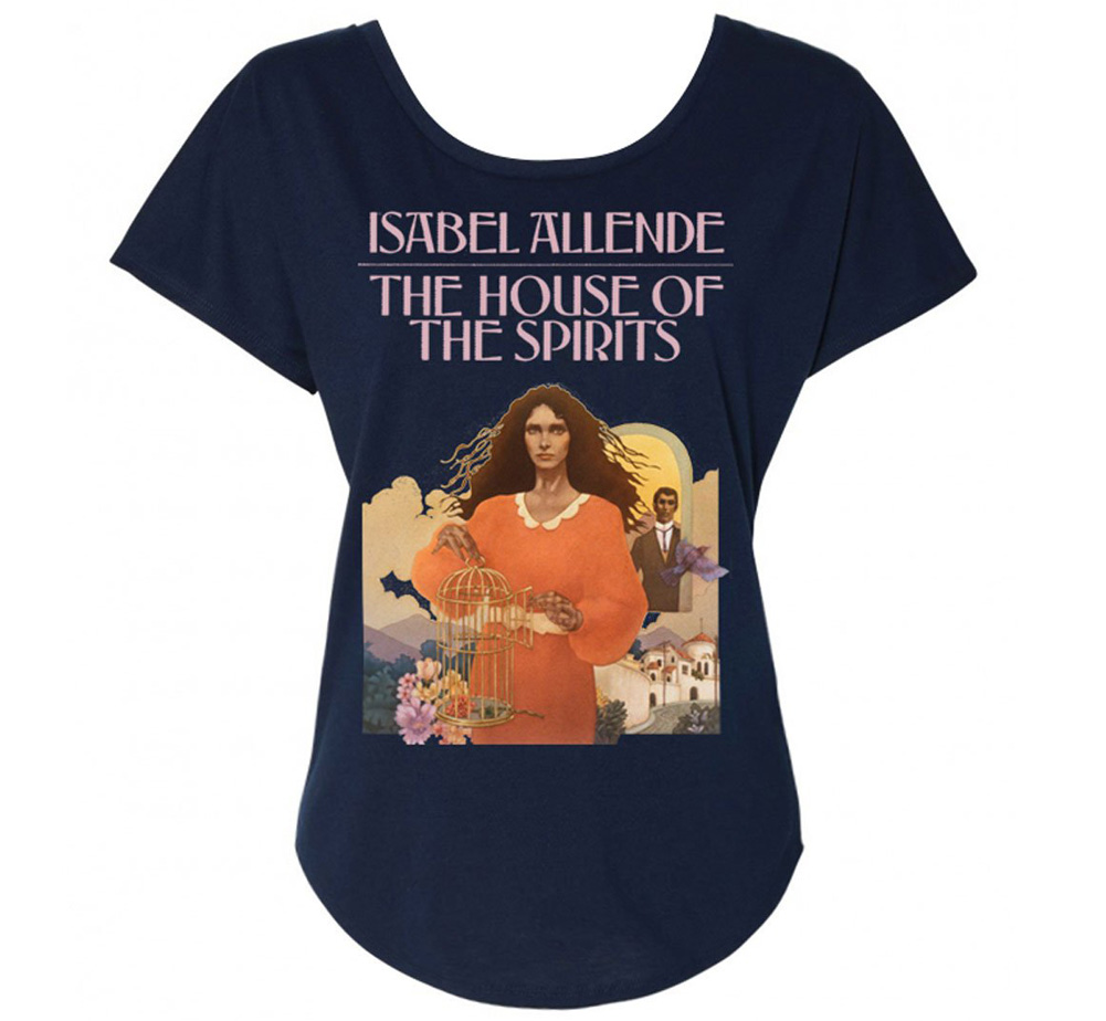 [Out of Print] Isabel Allende / The House of the Spirits Womens Relaxed Fit Tee (Midnight Navy)