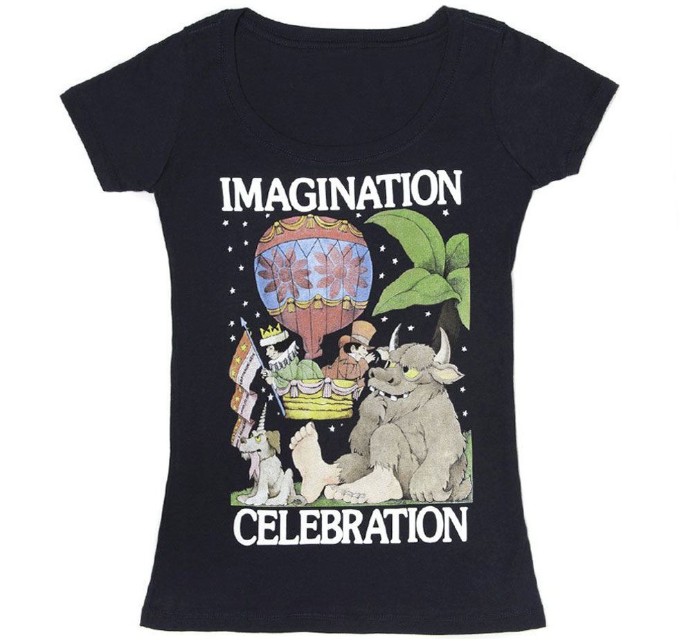 [Out of Print] Maurice Sendak / IMAGINATION CELEBRATION Scoop Neck Tee (Midnight Navy) (Womens)