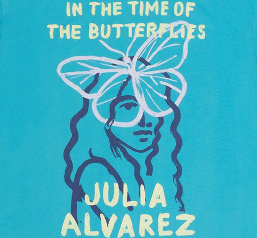 [Out of Print] Julia Alvarez / In the Time of the Butterflies Tee (Tahiti Blue)
