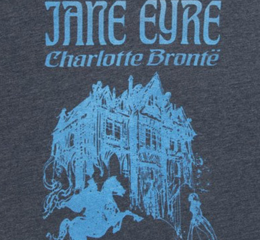 【Out of Print】 Charlotte Brontë / Jane Eyre V-Neck Tee (Midnight Navy) (Womens)