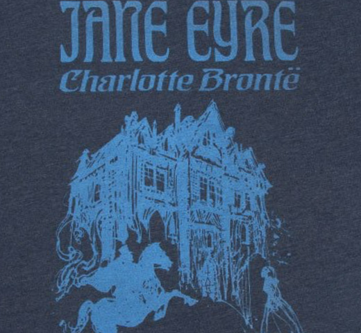 【Out of Print】 Charlotte Brontë / Jane Eyre Tee (Midnight Navy)