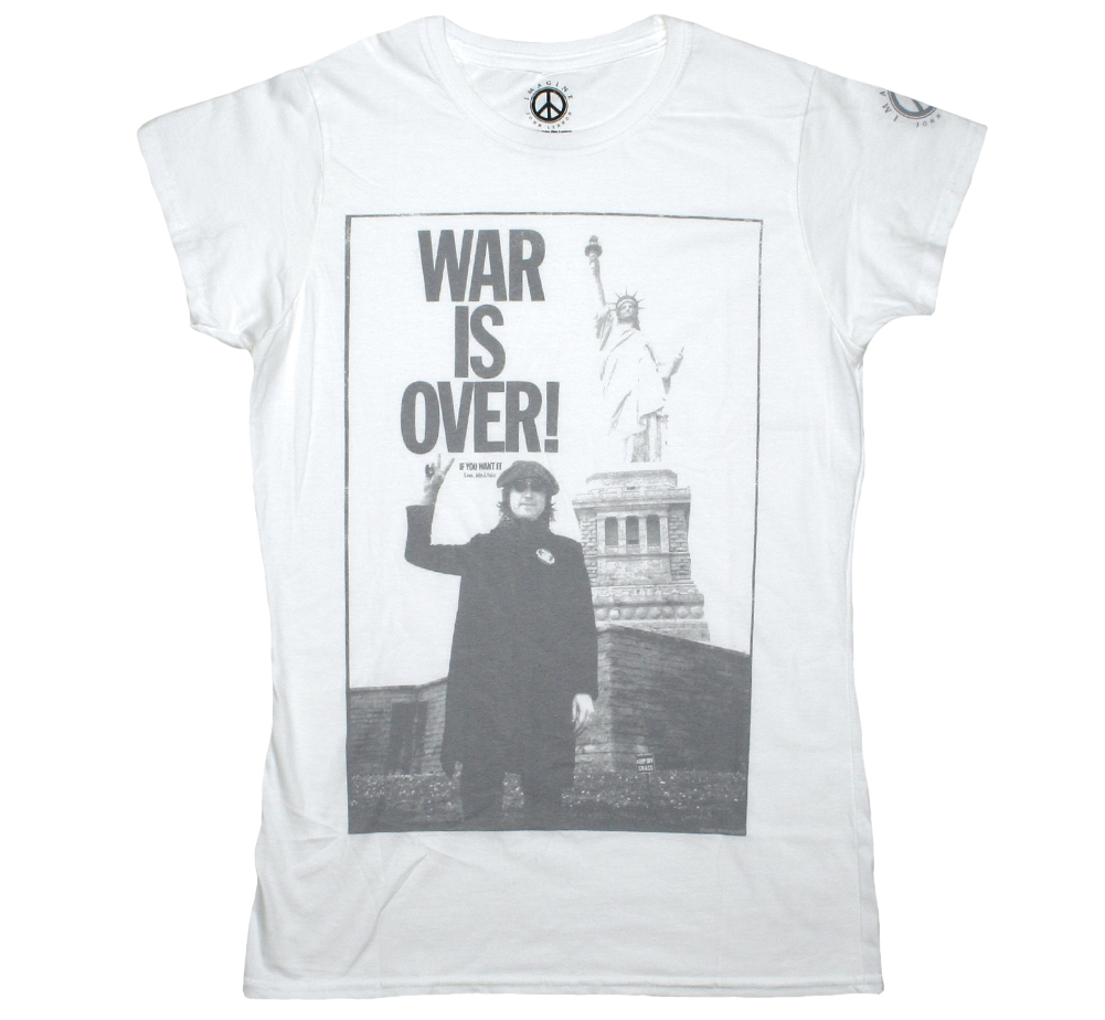 John Lennon / Statue of Liberty Womens Tee (White)