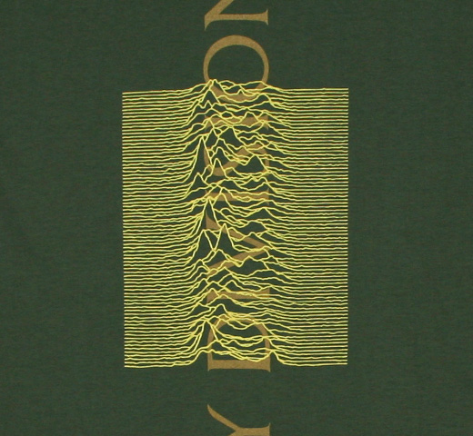 Joy Division / Unknown Pleasures Tee 10 (Green)