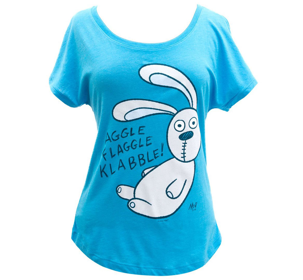 [Out of Print] Mo Willems / Knuffle Bunny Relaxed Fit Tee (Vintage Turquoise) (Womens)