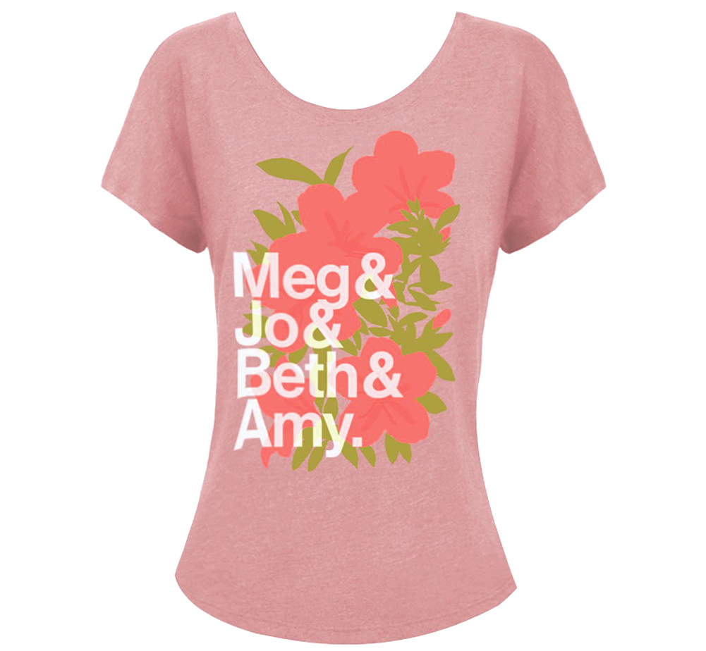 [Out of Print] Louisa May Alcott / Little Women Womens Relaxed Fit Tee (Desert Pink)