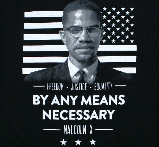 Malcolm X / By Any Means Necessary Tee (Black)