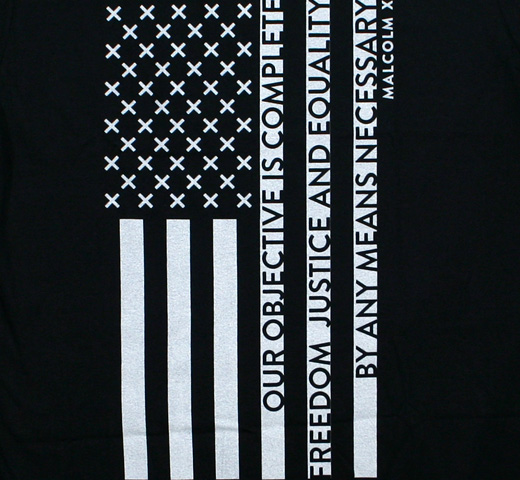 Malcolm X / Freedom, Justice and Equality Tee (Black)