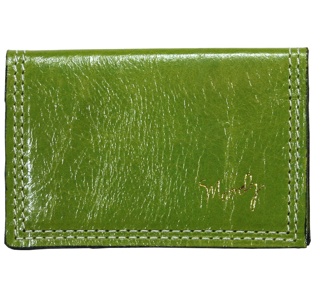 [Moody Leather] Leather Wallet (Kiwi / Cream)