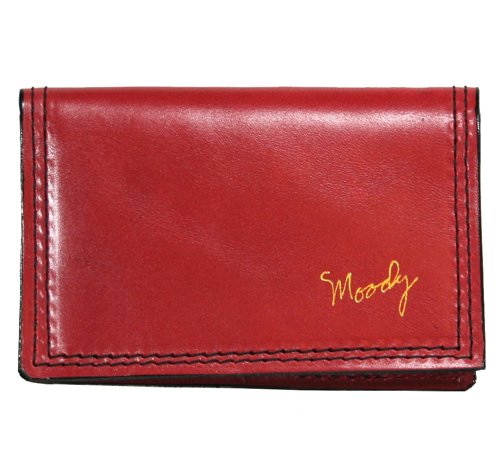 [Moody Leather] Leather Wallet (Ruby Red / Black)