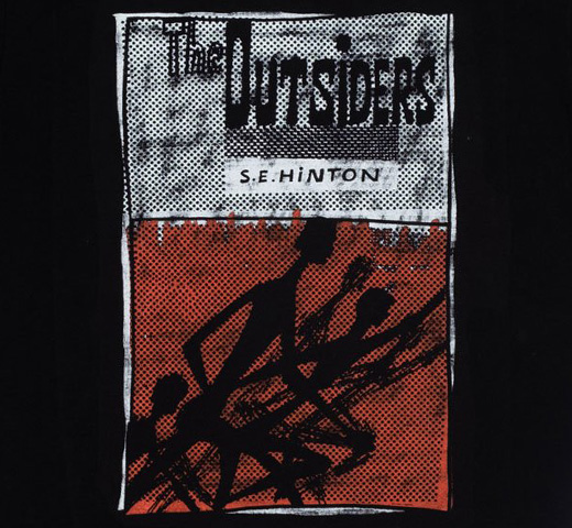 [Out of Print] S. E. Hinton / The Outsiders Tee 2 (Black)