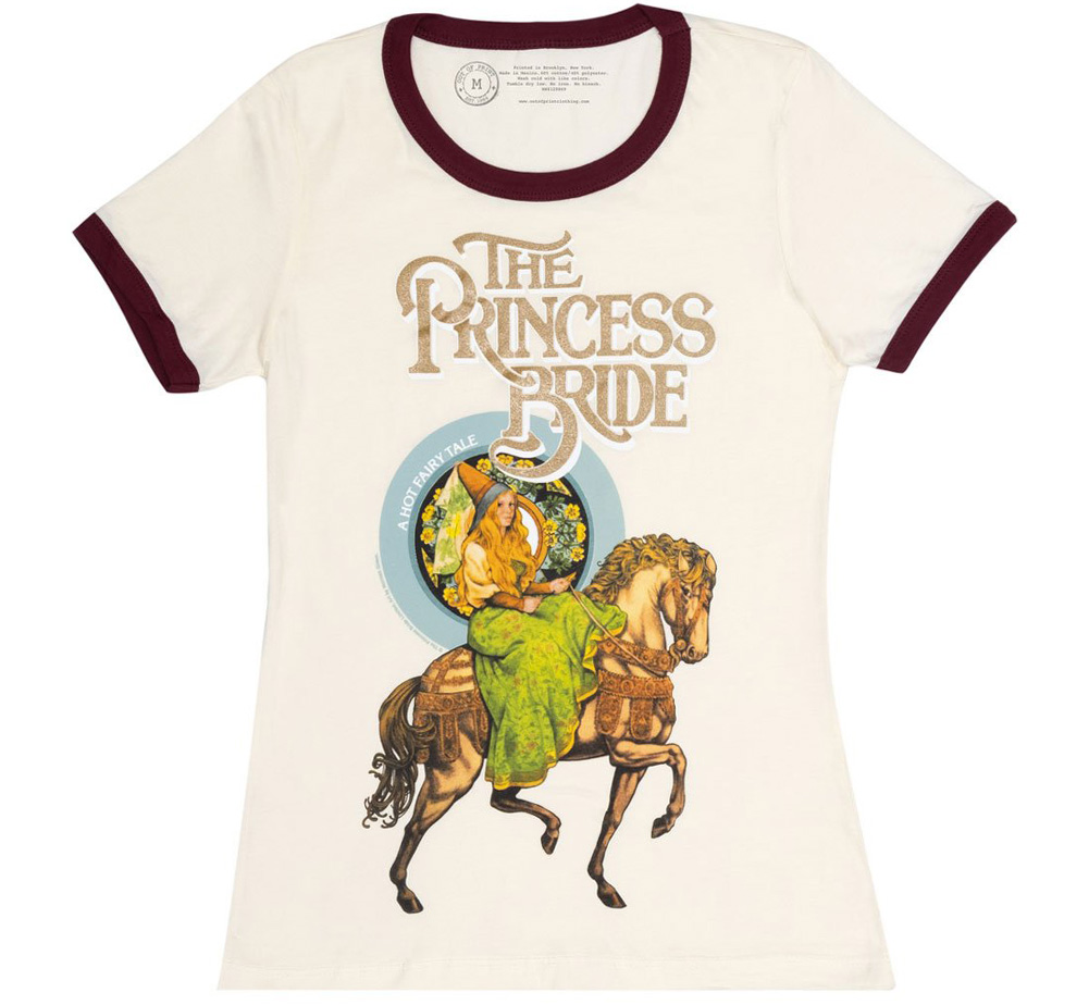 [Out of Print] William Goldman / The Princess Bride Womens Ringer Tee (Natural)