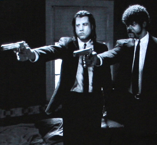 Pulp Fiction / Jules and Vincent Tee (Black)