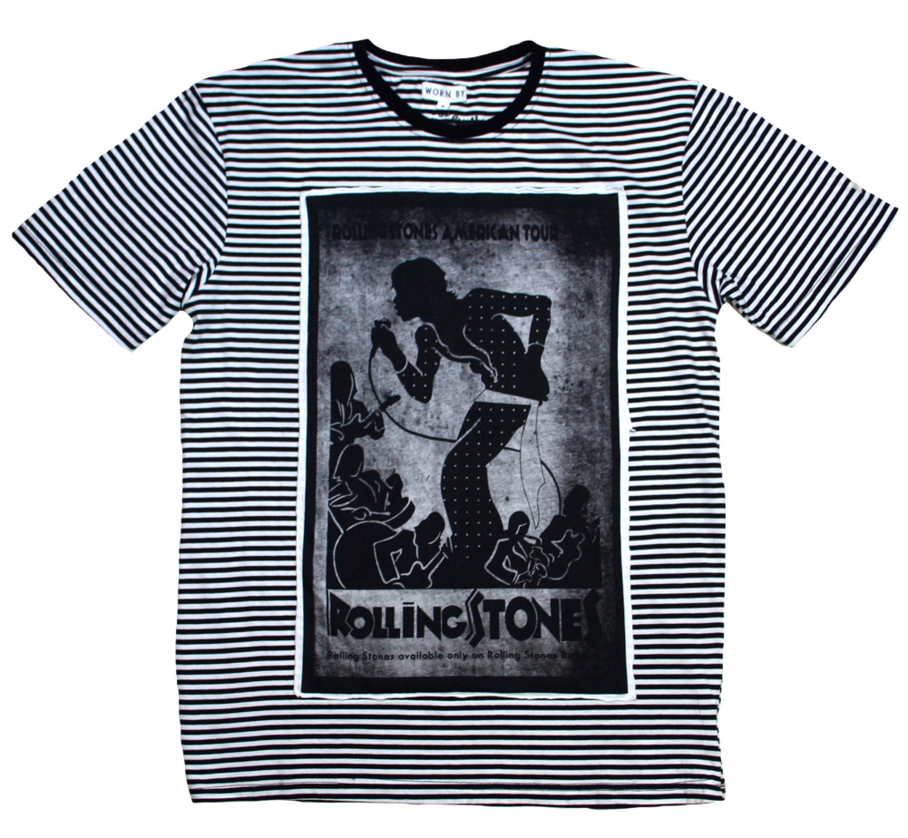 【Worn By】 The Rolling Stones / American Tour 1972 Tee (Stripe)