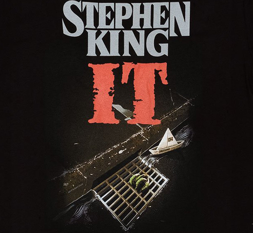 [Out of Print] Stephen King / It Tee (Black)