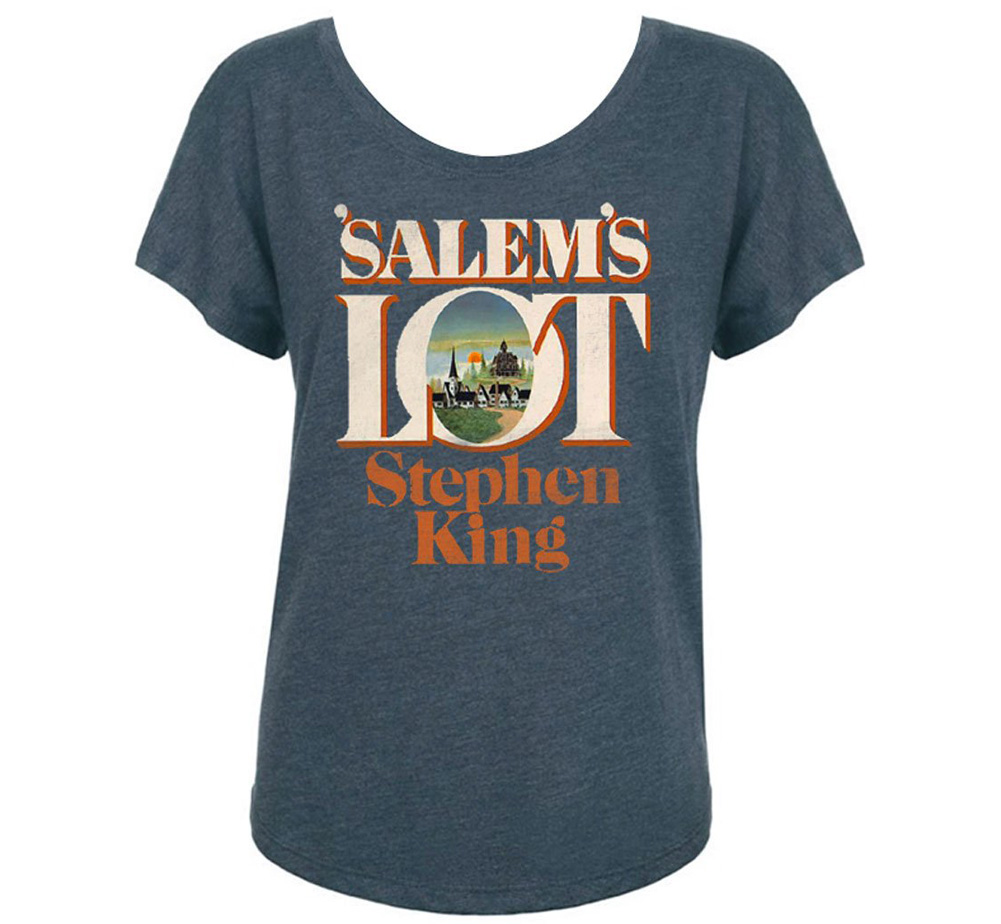[Out of Print] Stephen King / 'Salem's Lot Womens Relaxed Fit Tee (Indigo)