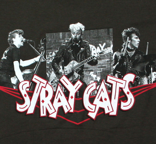 Stray Cats / Photo Collage Tee (Charcoal)
