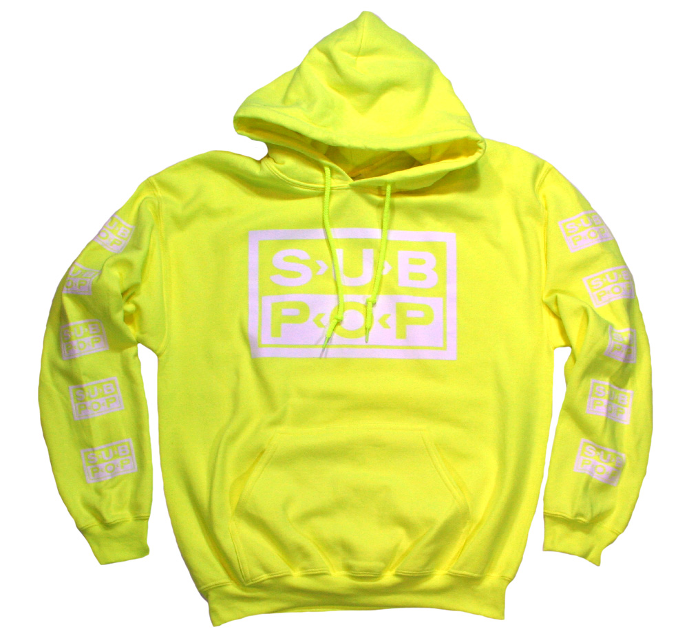 Sub Pop Records / Logo Pullover Hoodie (Fluorescent Yellow)