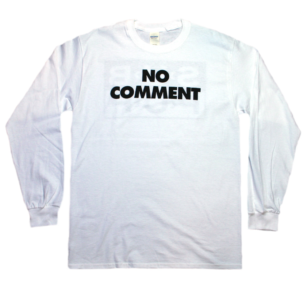 Sub Pop Records / NO COMMENT Long Sleeve Tee (White)
