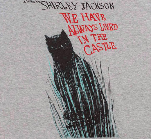[Out of Print] Shirley Jackson / We Have Always Lived in the Castle Tee (Dark Heather Grey)