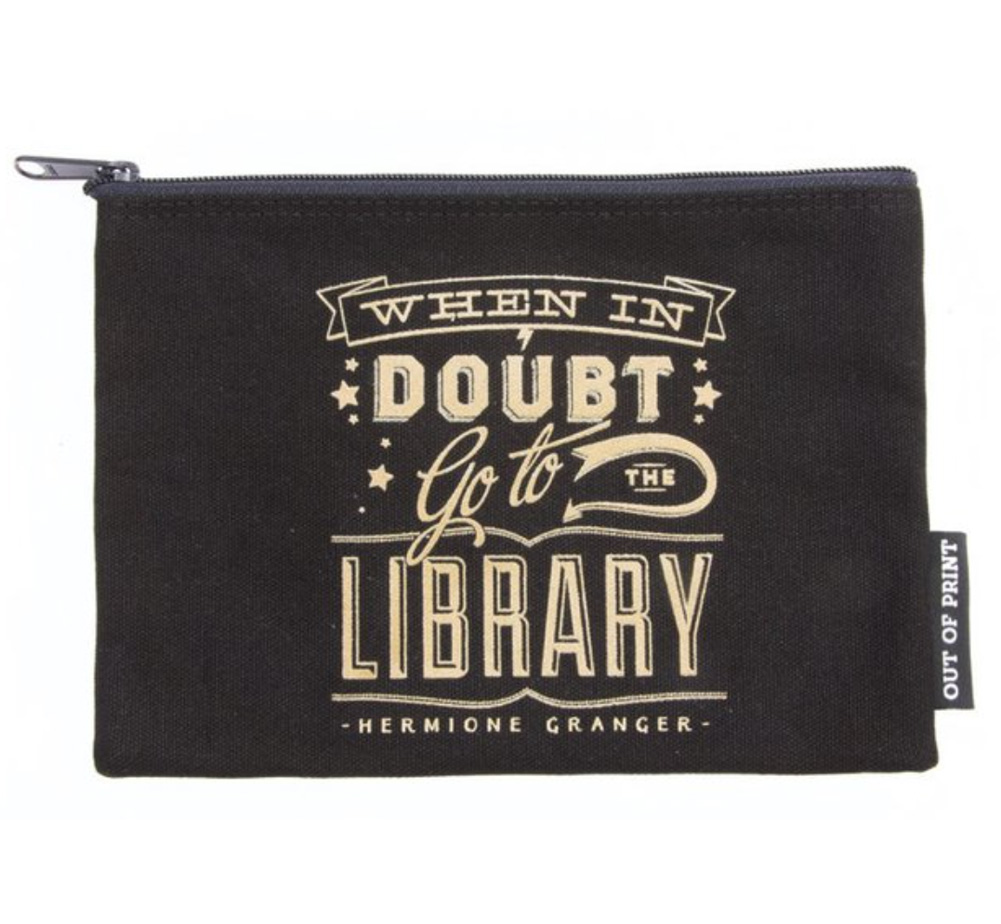 【Out of Print】 Hermione Granger / When in doubt, go to the library Pouch