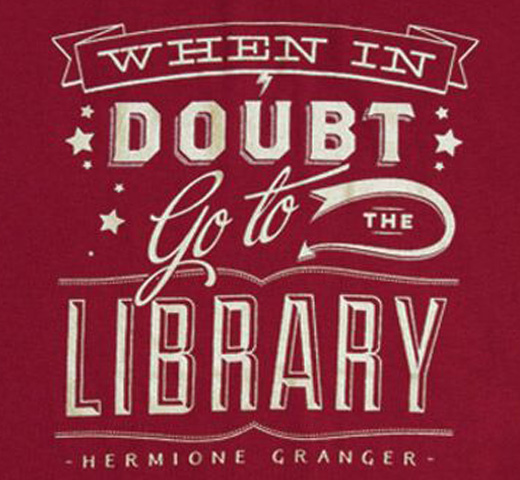 【Out of Print】 Hermione Granger / When in doubt, go to the library Tee (Gryffindor Red) (Womens)