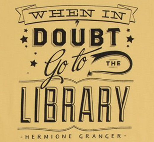 【Out of Print】 Hermione Granger / When in doubt, go to the library Tee (Hufflepuff Yellow) (Womens)